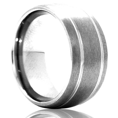 A Heavy Stones Tungsten Band
