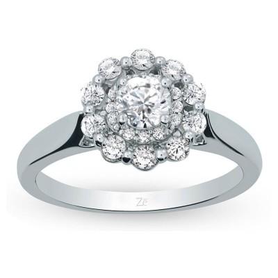 Ladies White Gold 3/4ct tw Bridal Ring