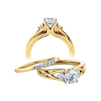 ZE Yellow Gold Diamong Engagement