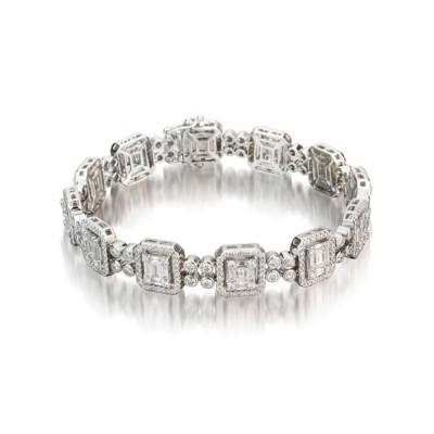 18k White Gold Bracelet B003045