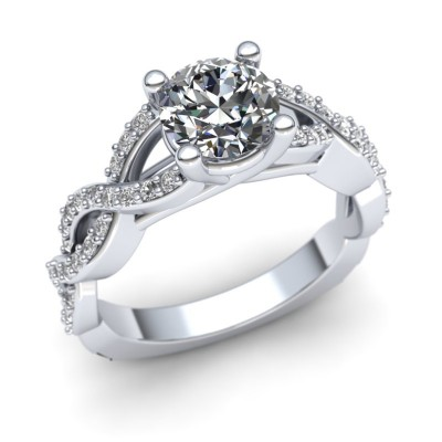 Fixed Head Infinity Engagement Ring