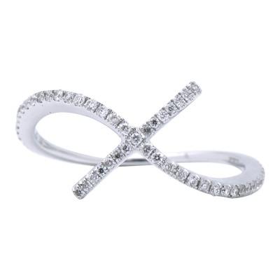 18k White Gold Ring R003433