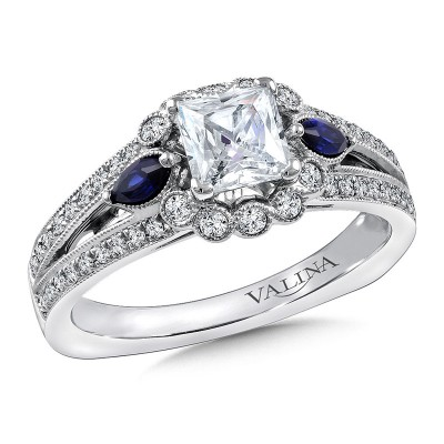 Engagement Ring R9802WP-BSA