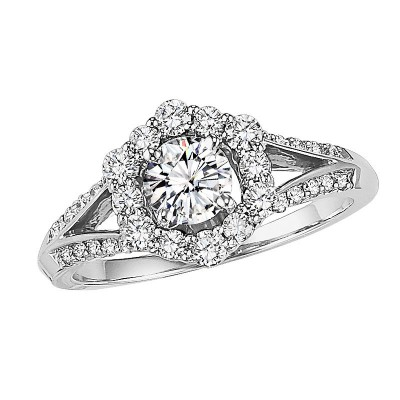 14K Diamond Engagement Ring 1/2 ctw WB5689E