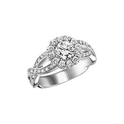 14K Diamond Engagement Ring 5/8 ctw WB5716E