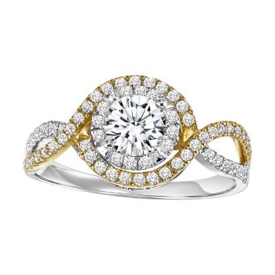 14K Semi-Mount Diamond Engagement Ring 1/2 ctw WB5922E