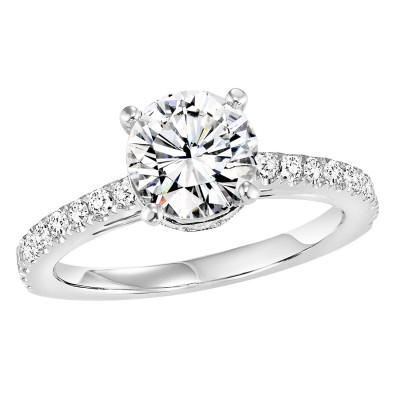 14K Diamond Engagement Ring 3/8 ctw WB5952E