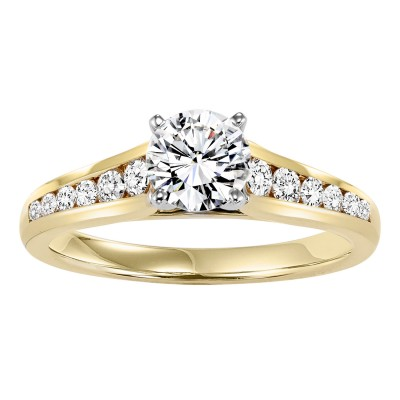 14KY Diamond Engagement Ring 3/8 ctw