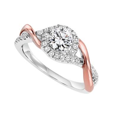 14K Diamond Engagement Ring 1/3 ctw WB6007E