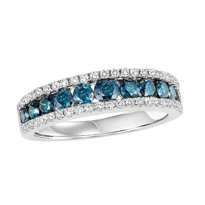 14K Blue & White Diamond Band 1 1/5 ctw WB6022W