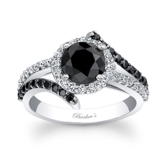 Black Diamond Wedding Ring.Barkev S Black Diamond Engagement Ring Bc 7857lbkw