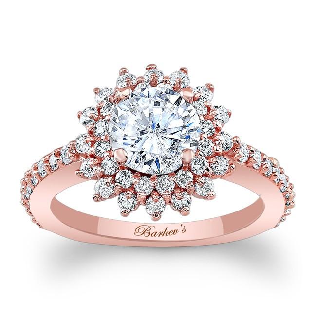 Rose Gold Halo Engagement Ring