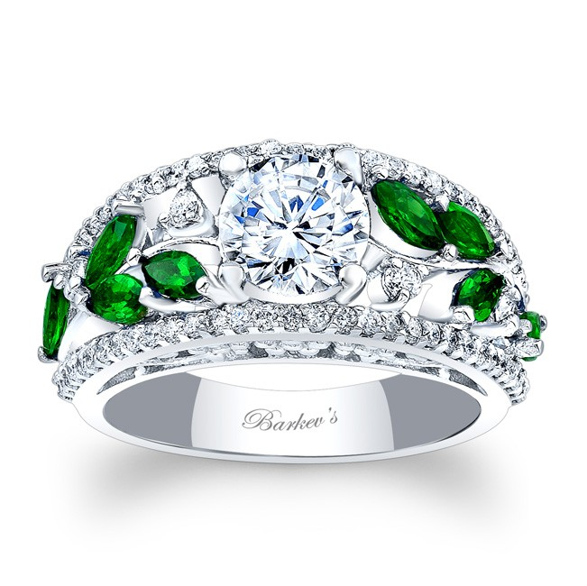 Tsavorite Engagement Ring