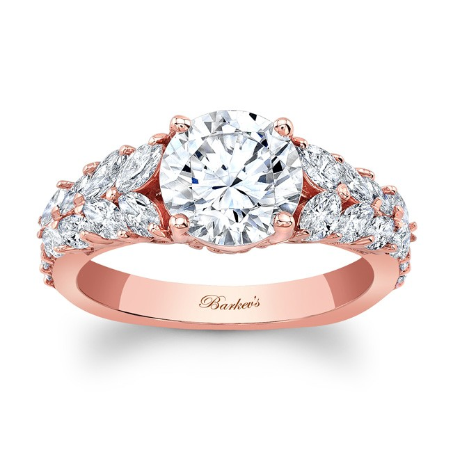 Unique Rose Gold Engagement Ring