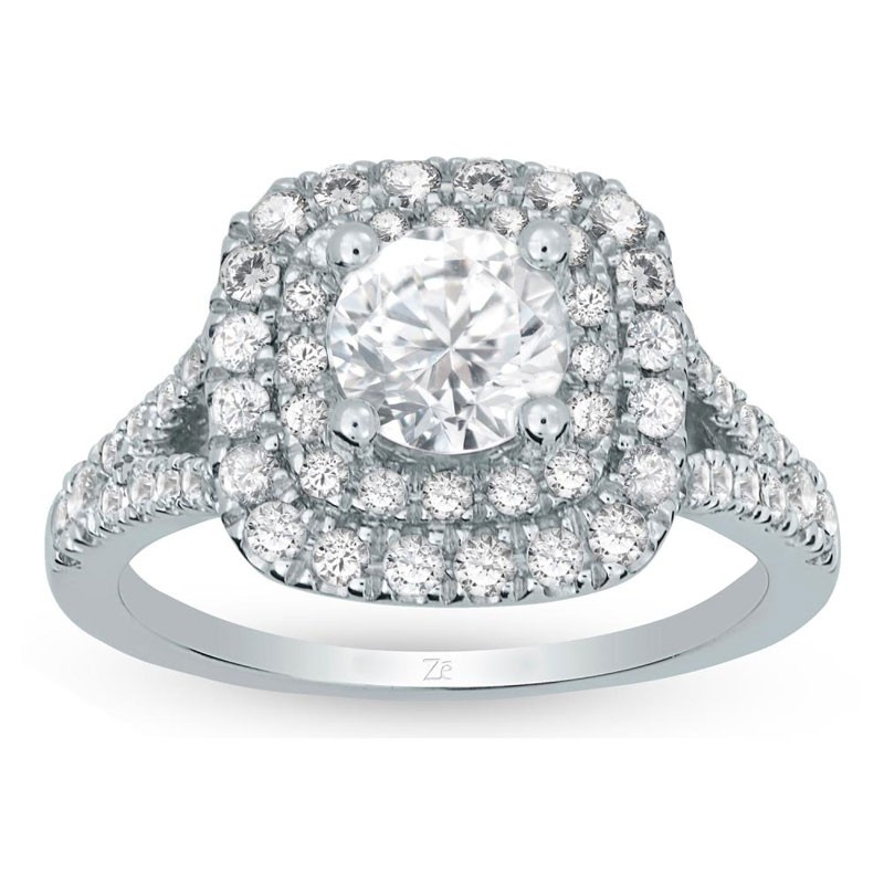 Ladies White Gold Diamond Engagement Ring