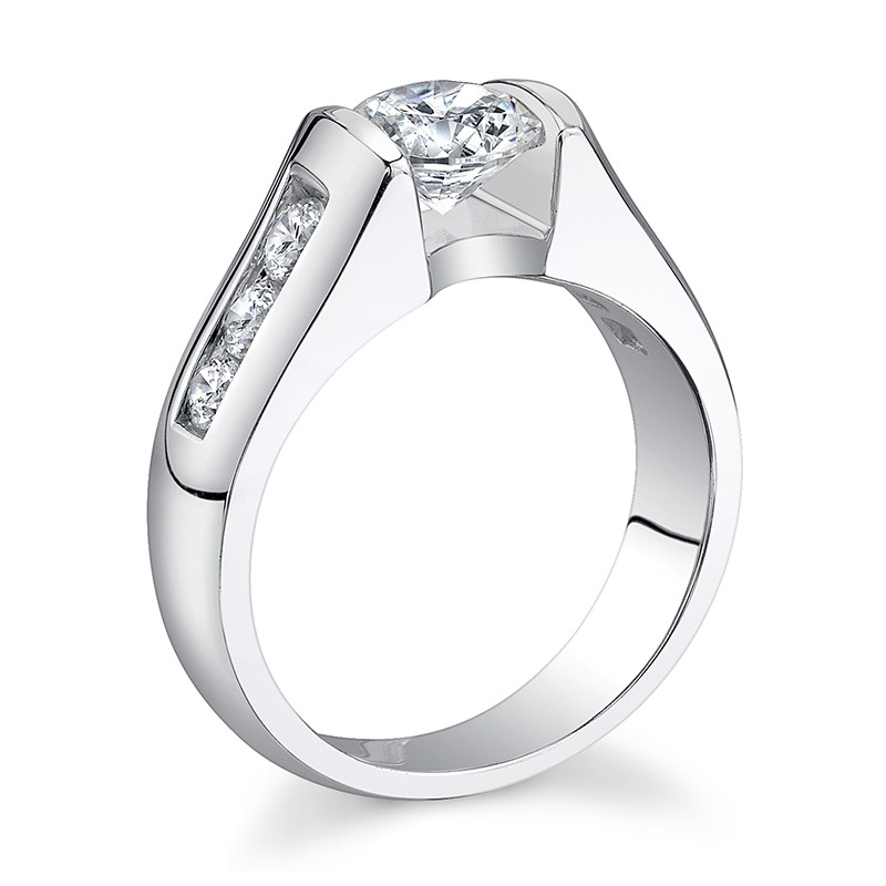Floating Center Engagement Ring