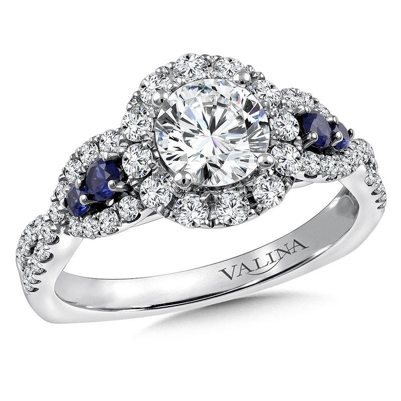 Engagement Ring R9774WP-BSA