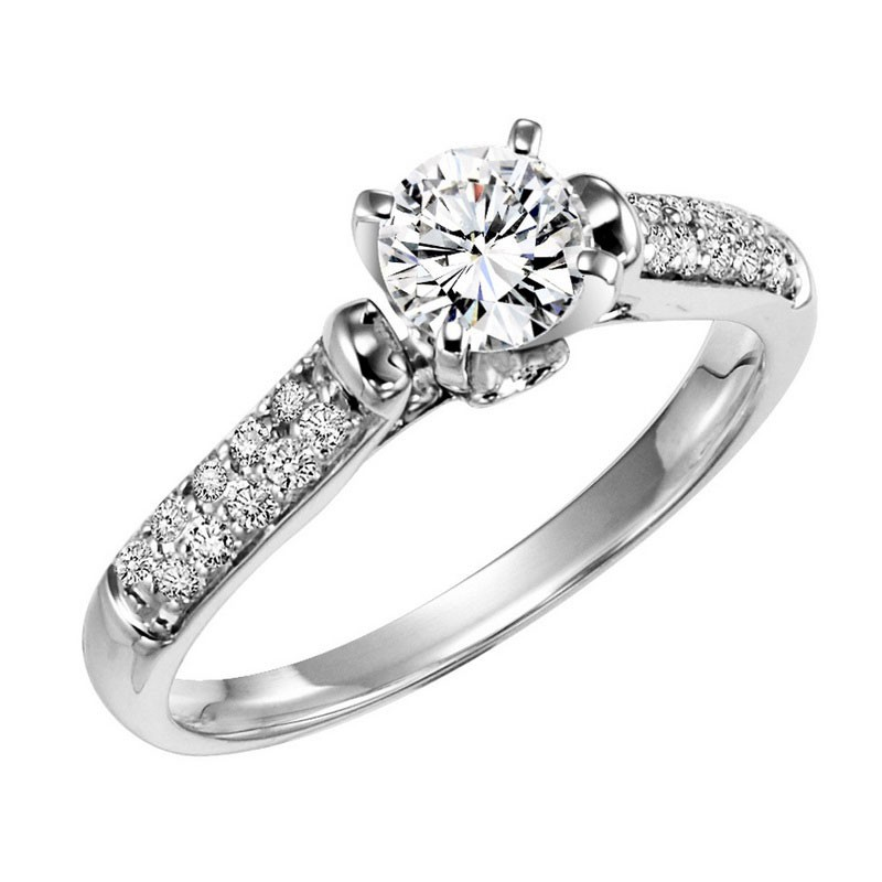 14KY Diamond Engagement Ring 1/5 ctw