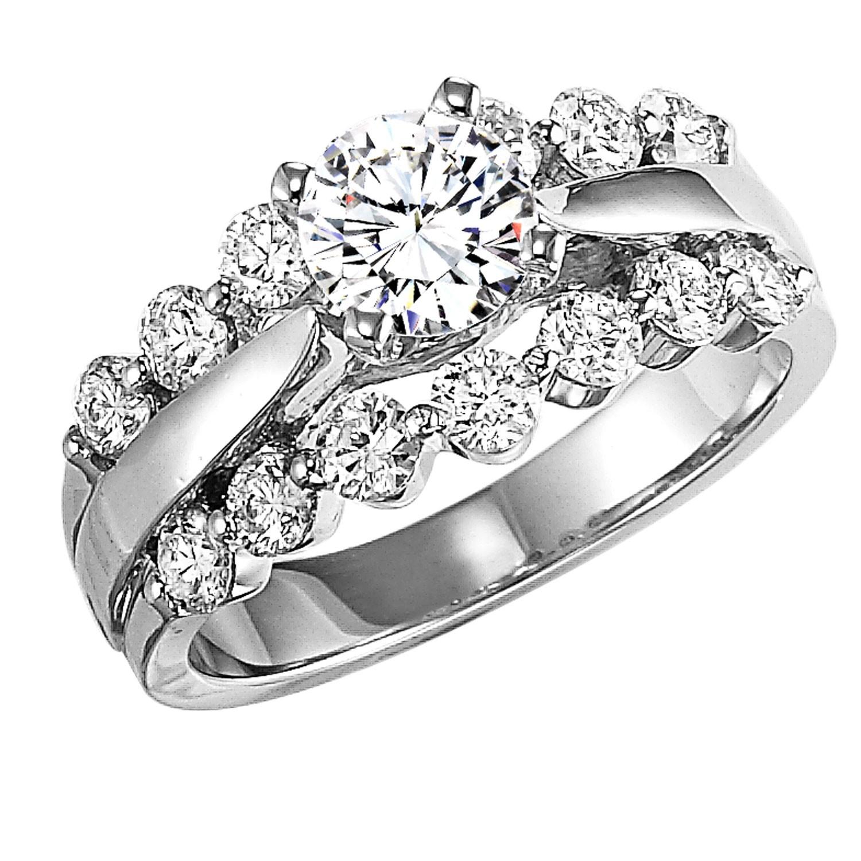14K Diamond Engagement Ring 1 ctw WB5665E