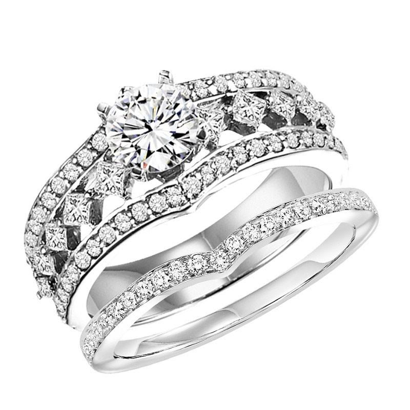 14K Diamond Engagement Ring 3/4 ctw WB5727E