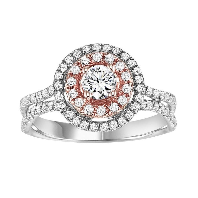 14K Diamond Engagement Ring 1 ctw Complete WB5850E