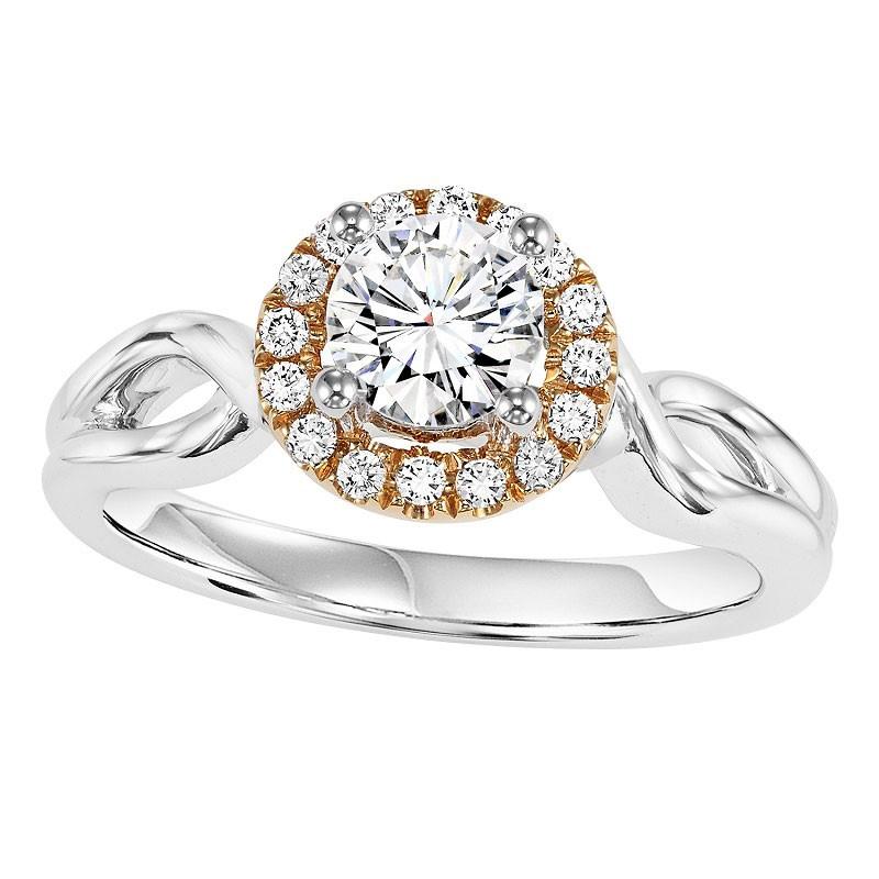 14K Diamond Engagement Ring 1/10 ctw