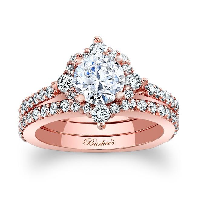 Rose Gold Bridal Set